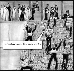 sauvetage par les Allemands