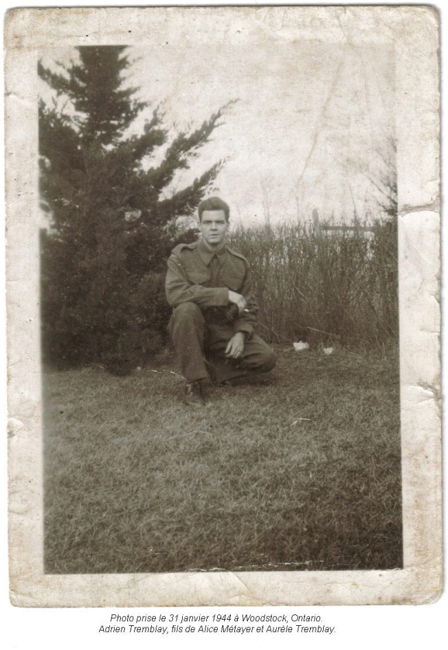 Adrien Tremblay janvier 1944