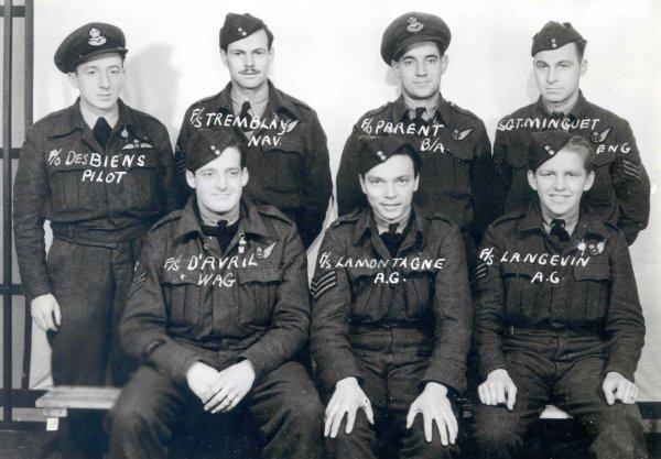 Desbiens, Jean-Jacques Lieutenant d'aviation  C3a9quipage-de-desbiens