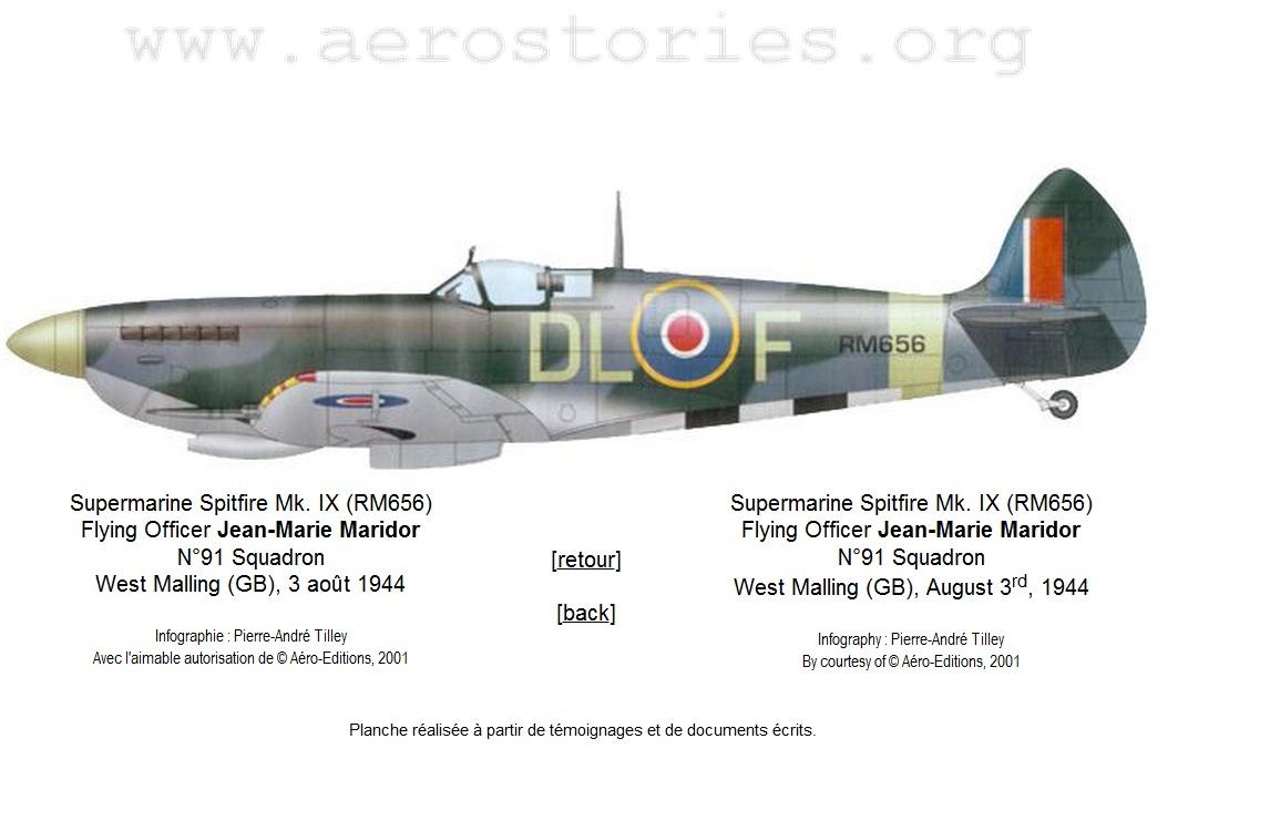 Supermarine Spitfire Mk. XIV de Jean MARIDOR 1944 Spitfire-maridor-1944-1