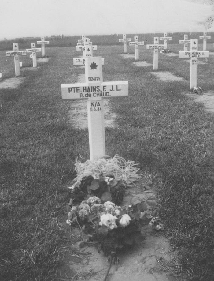tombe de Fernand Hains