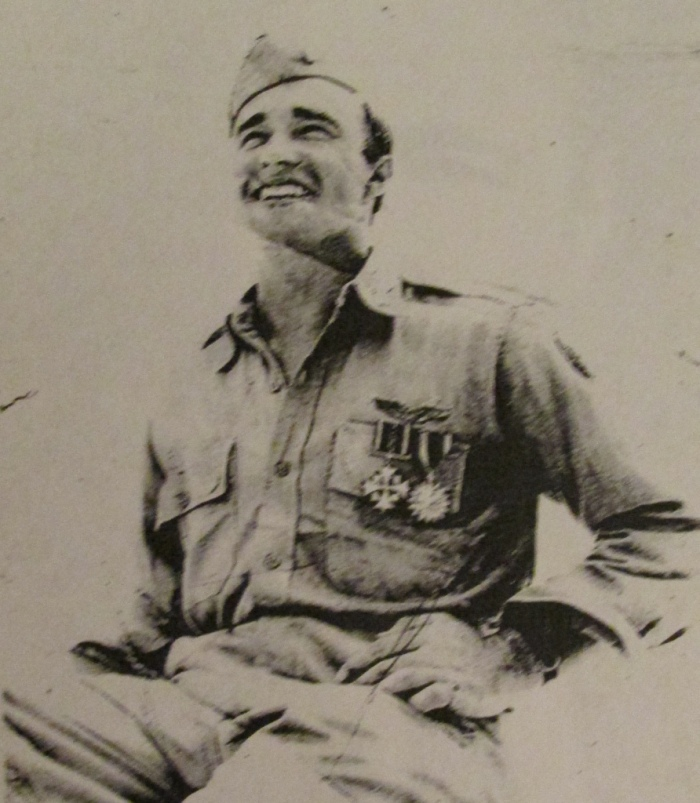Al Miller is wearing a Distinguished Flying Cross (one below the Medal of Honor) and an Air Medal. Photo provided by Thelma Miller