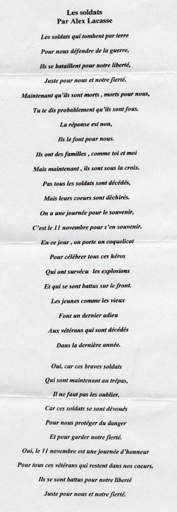 alex poem