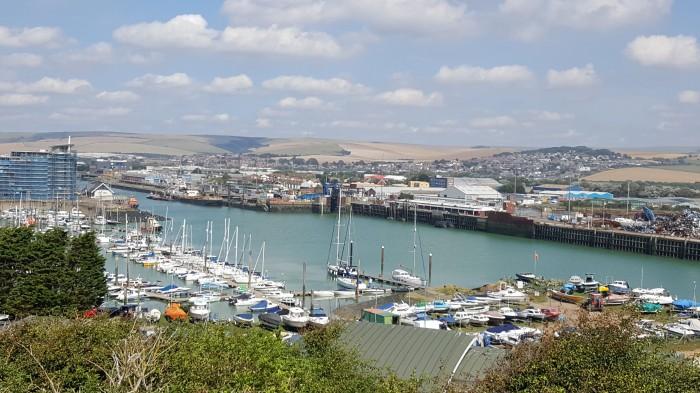 Marina and ferry port