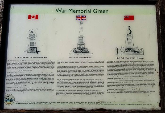 Memorial information panel
