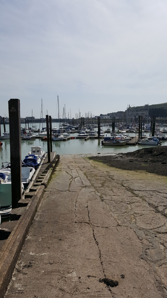 Slipway and marina