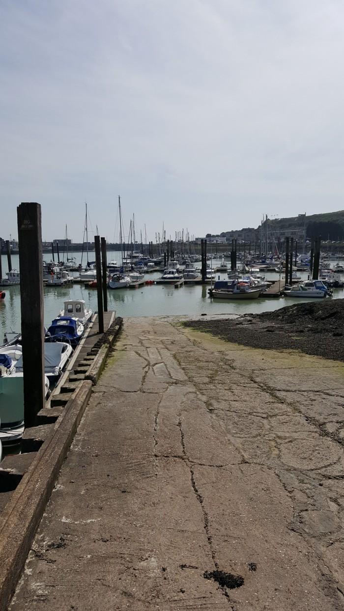 Slipway and marina