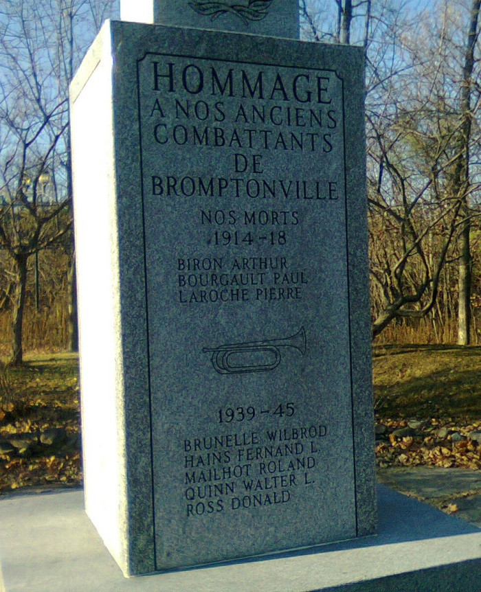 My visit to Bromptonville's War Memorial