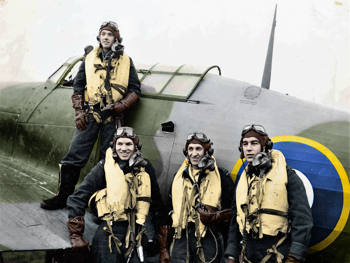 Flying Officer Ross Johnson and comrades in arms